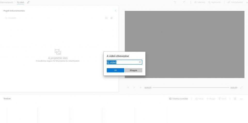 Windows Videószerkesztő használata